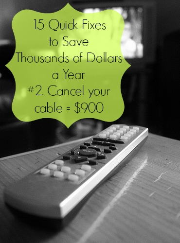 save money cancel cable tv