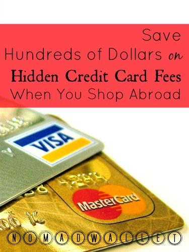 Avoid credit card fees when traveling