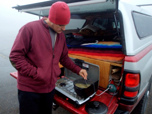 Cooking While Truck Bed Camping