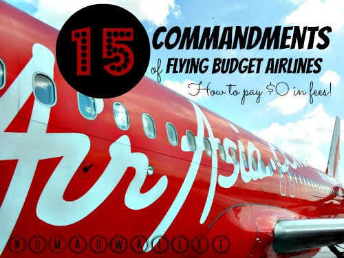 Avoid fees when flying budget airlines