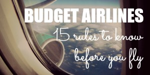 How to Fly Budget Airlines