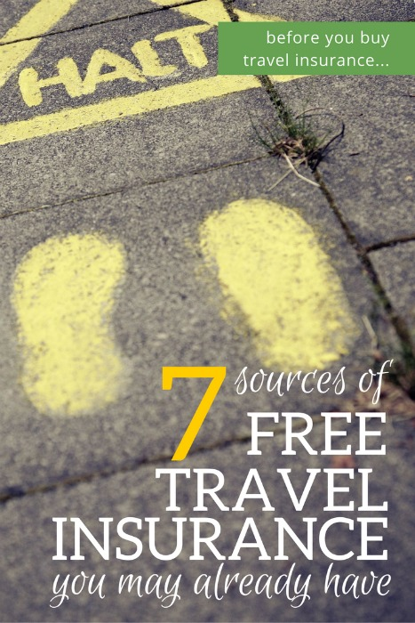 7 Sources of Free Travel Insurance You May Already Have