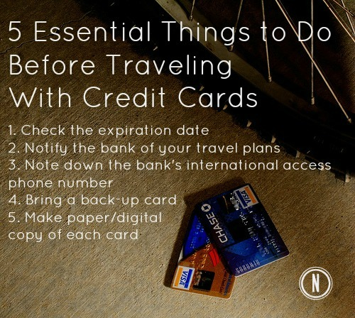 5 Essential Things to Do Before Traveling With a Credit Card