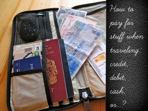Travel payment methods