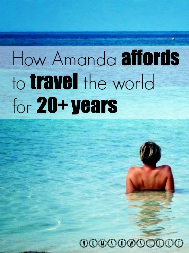 How Amanda pays for her trips by alternating between work and travel