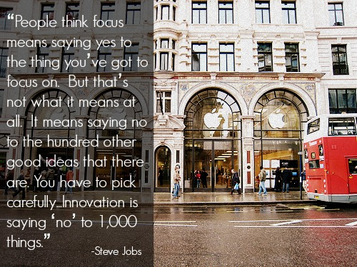 Focus means saying no. Innovation is saying no to 1,000 things