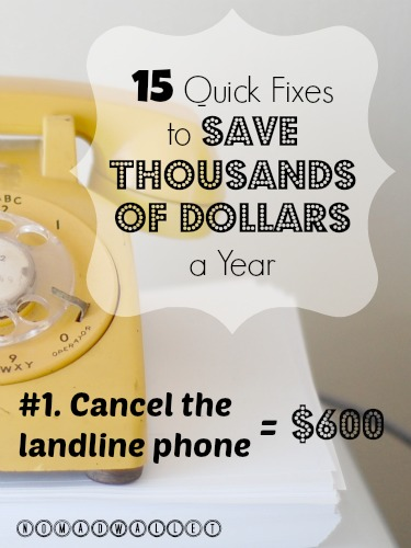 Money-saving tips for landline phone
