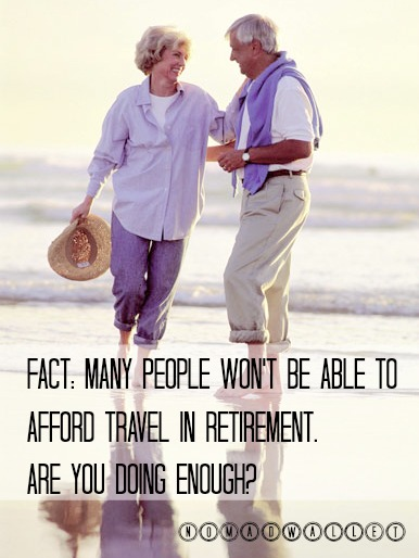 Research Says You Won't be Able to Travel in Retirement