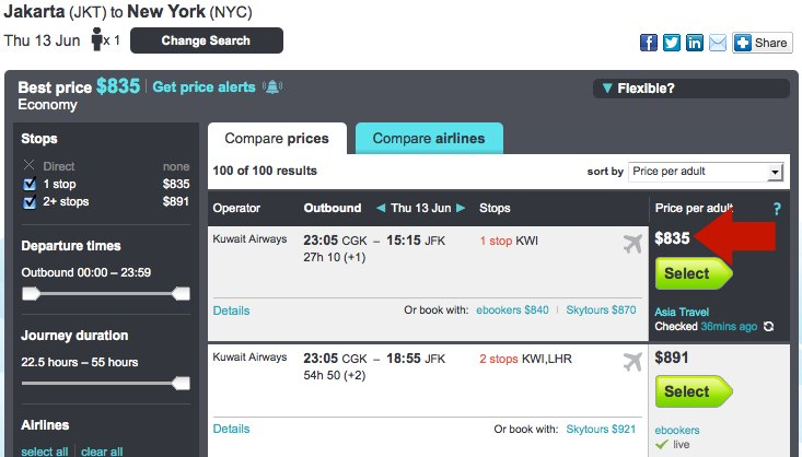 Flexible airfare on Skyscanner