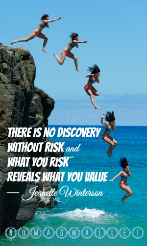 Jeanette Winterson Quote: There is no discovery without risk and what you risk reveals what you value