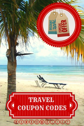 Use coupon codes to get travel deals.