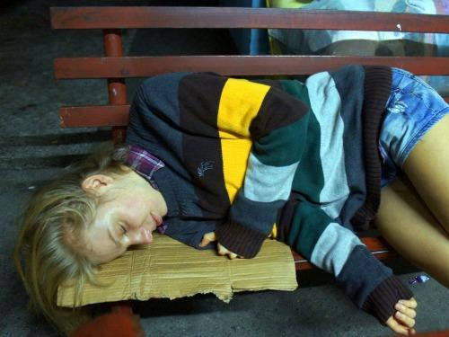 A budget traveler can sleep anywhere