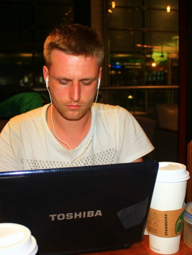 Building websites while traveling