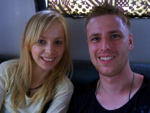 On a bus to Alona Beach