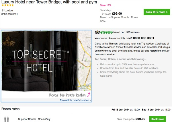 How to book a secret hotel