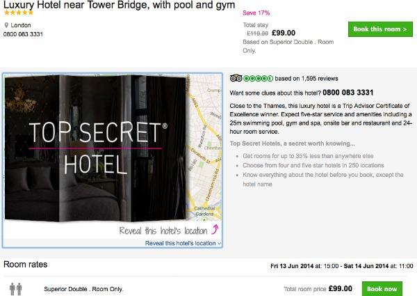 How to book a secret hotel