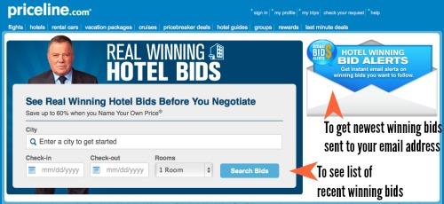 See the recent winning hotel bids on Priceline
