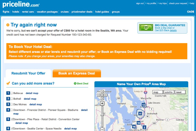 Another rejected hotel bid on Priceline