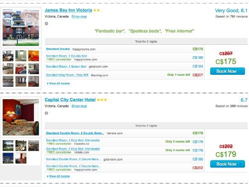 Compare hotel rates