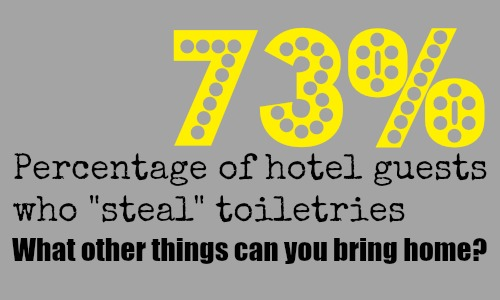 "73 percent travelers ""steal"" toiletries from hotels"