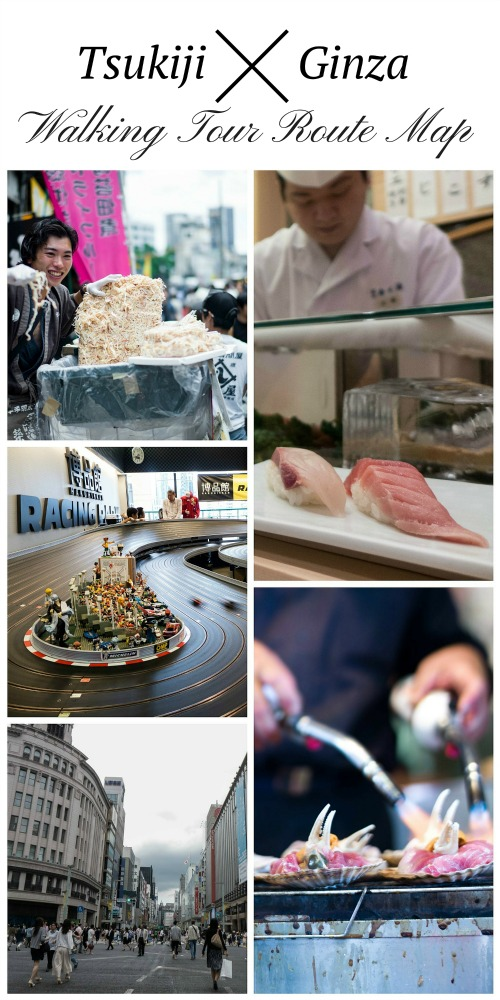 Walking tour through the free attractions in Tsukiji and Ginza, Tokyo